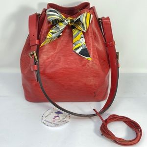 Louis Vuitton Epi Leather Red Noe Bag
